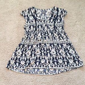 Anthropologie Babydoll Tunic